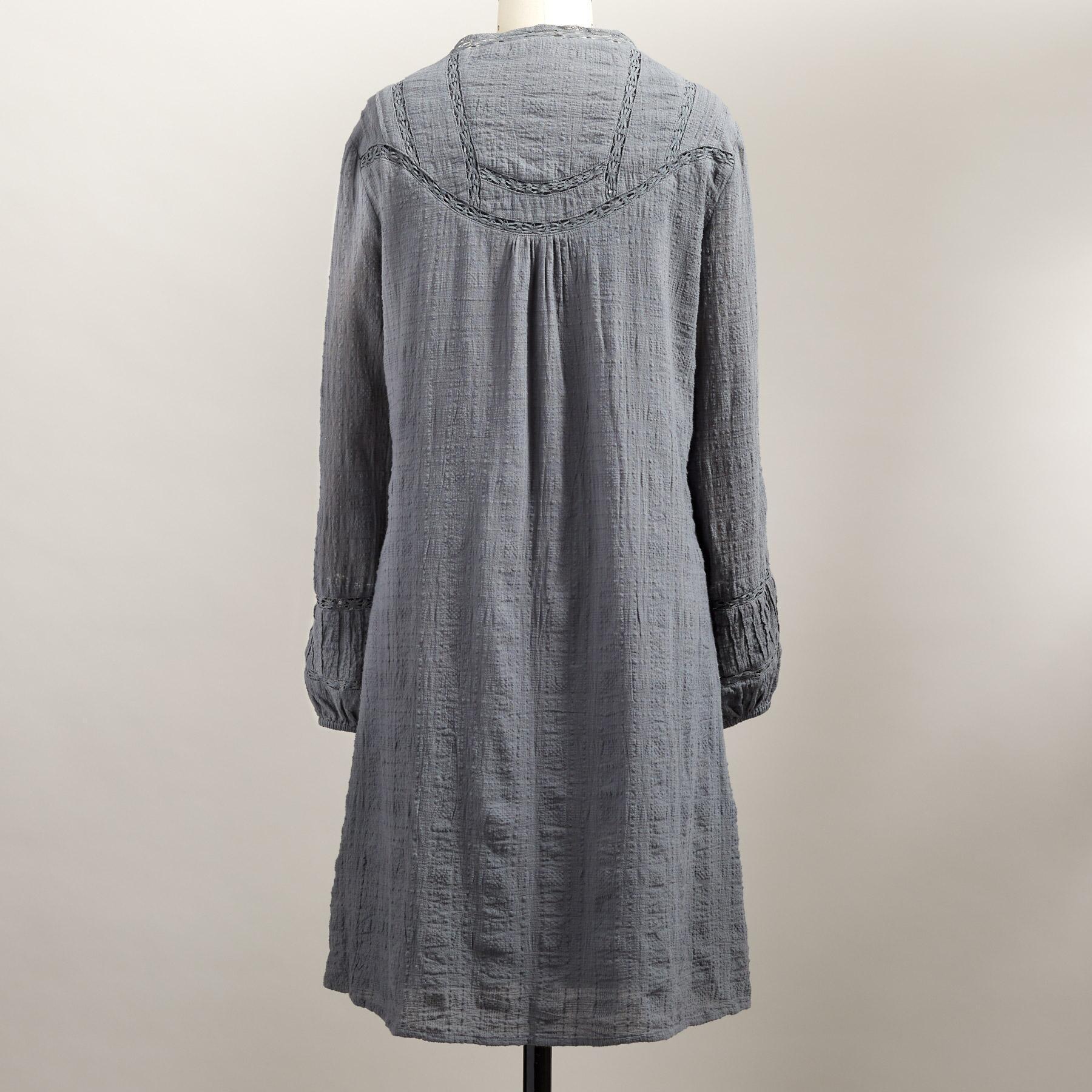 HALLIE PINTUCK DRESS PETITE: View 3