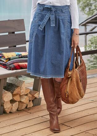 HEIRLOOM DENIM SKIRT - PETITES