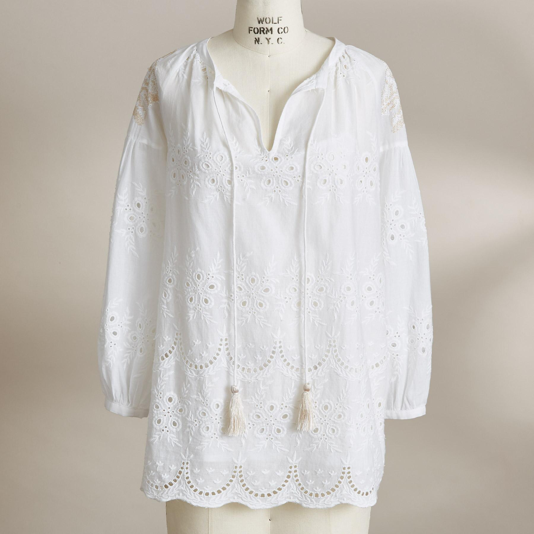 EYELET TO PERFECTION TOP: View 2