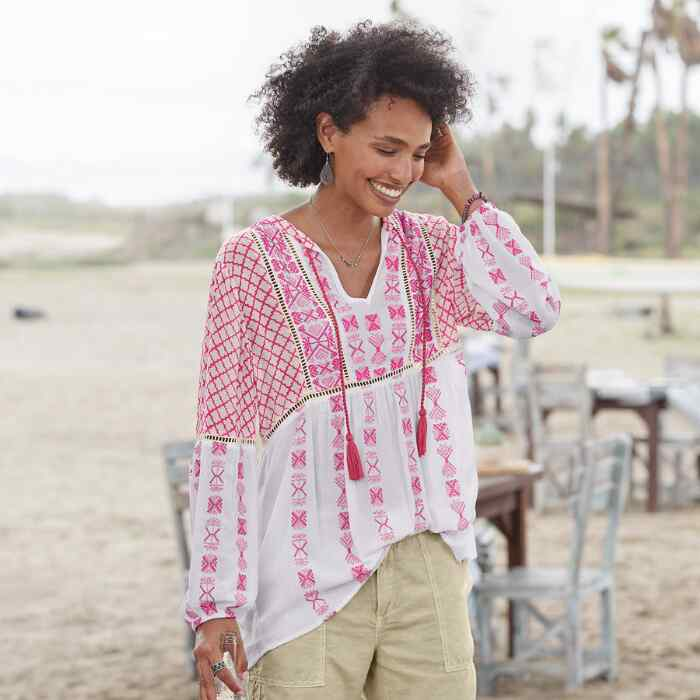 WILD POPPIES TUNIC