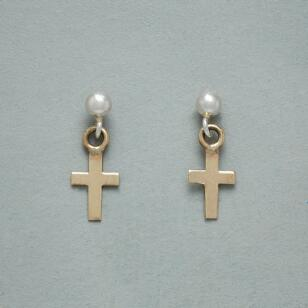 FAITH FOREVER CROSS EARRINGS