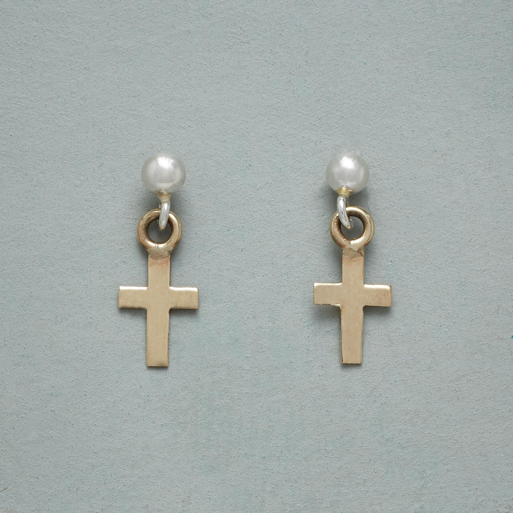 FAITH FOREVER CROSS EARRINGS: View 1