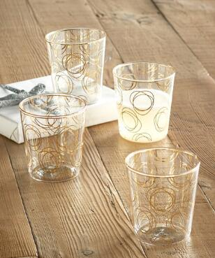 LET'S CELEBRATE SWIRL TUMBLERS, SET OF 4