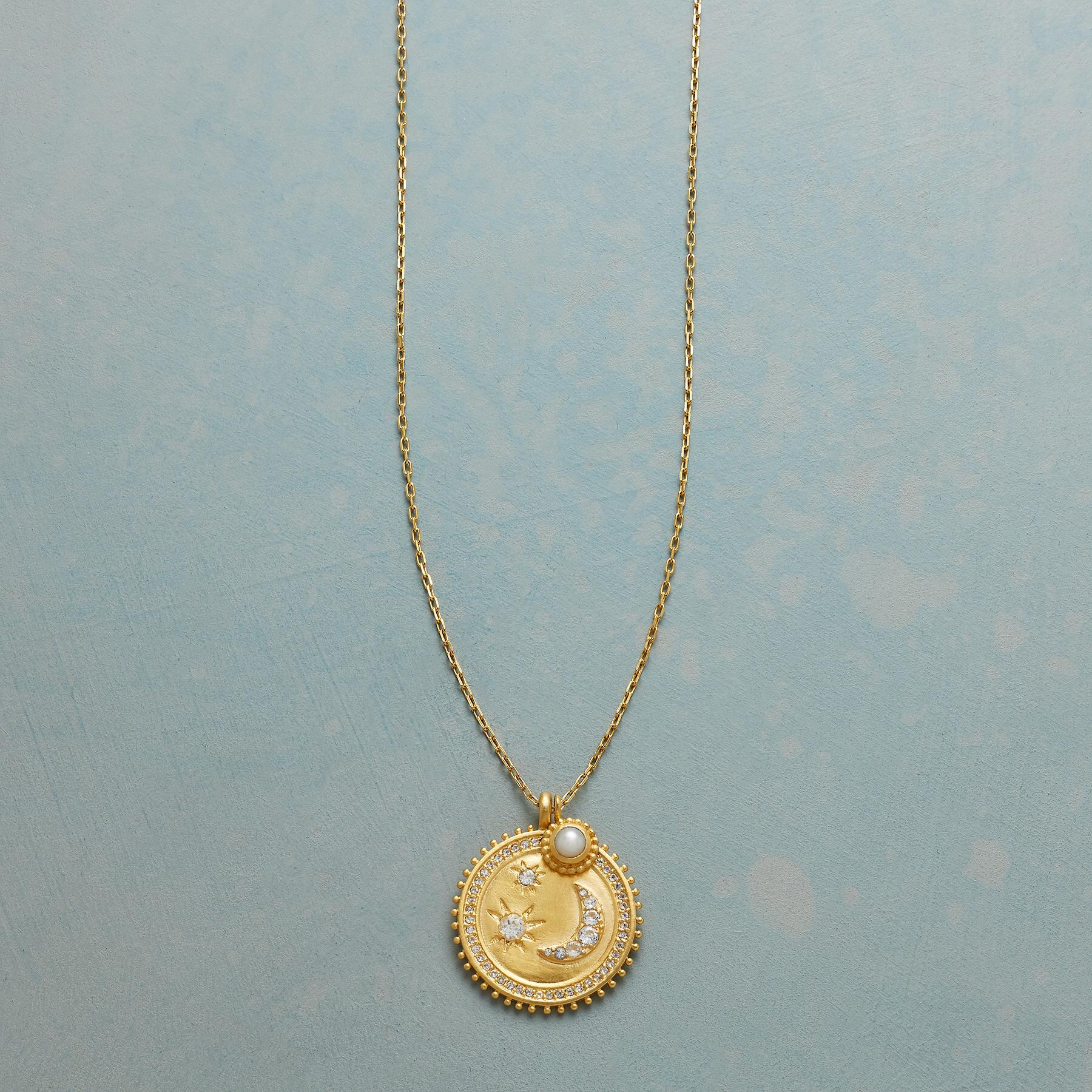 MY MOON AND STARS GOLD NECKLACE: View 1
