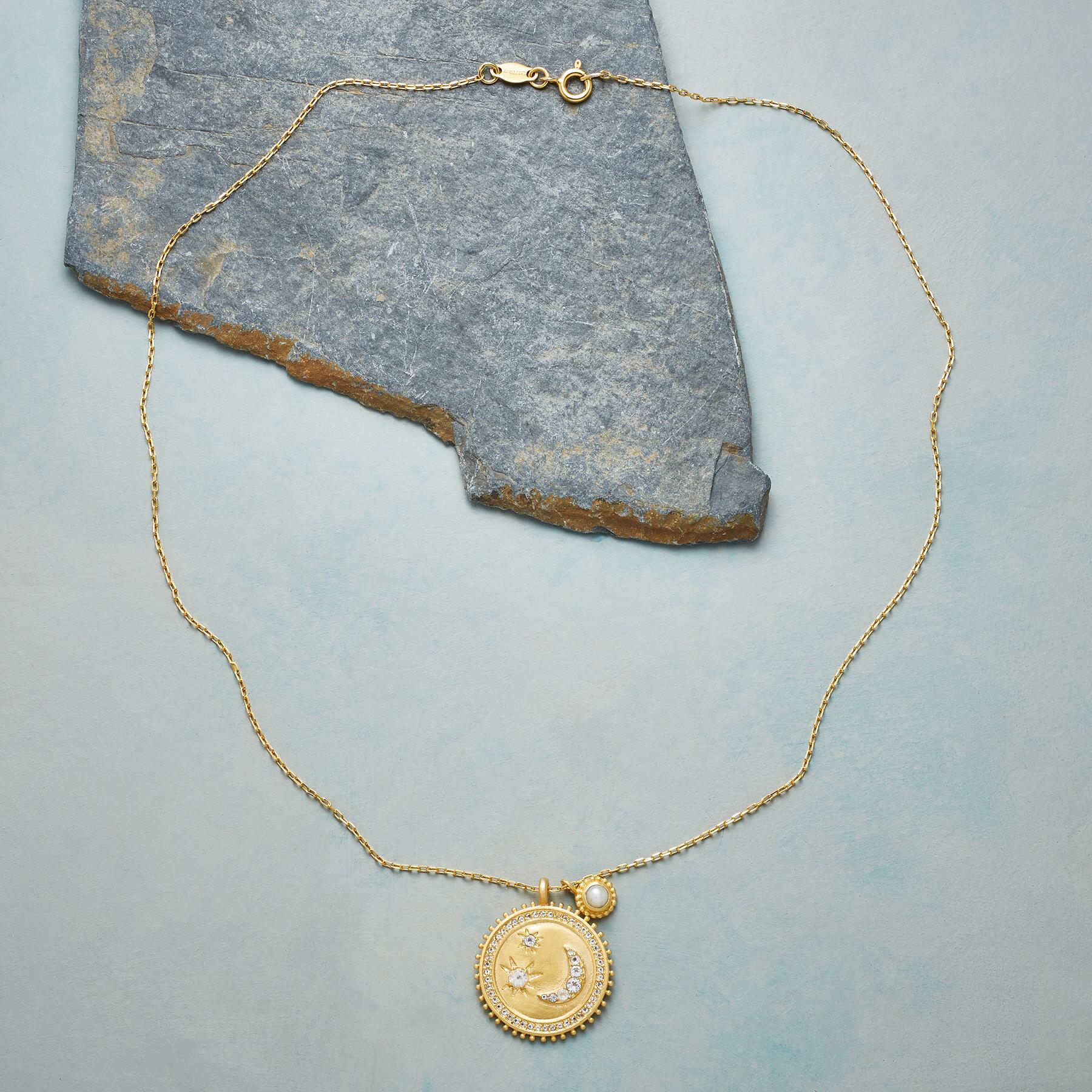 MY MOON AND STARS GOLD NECKLACE: View 2