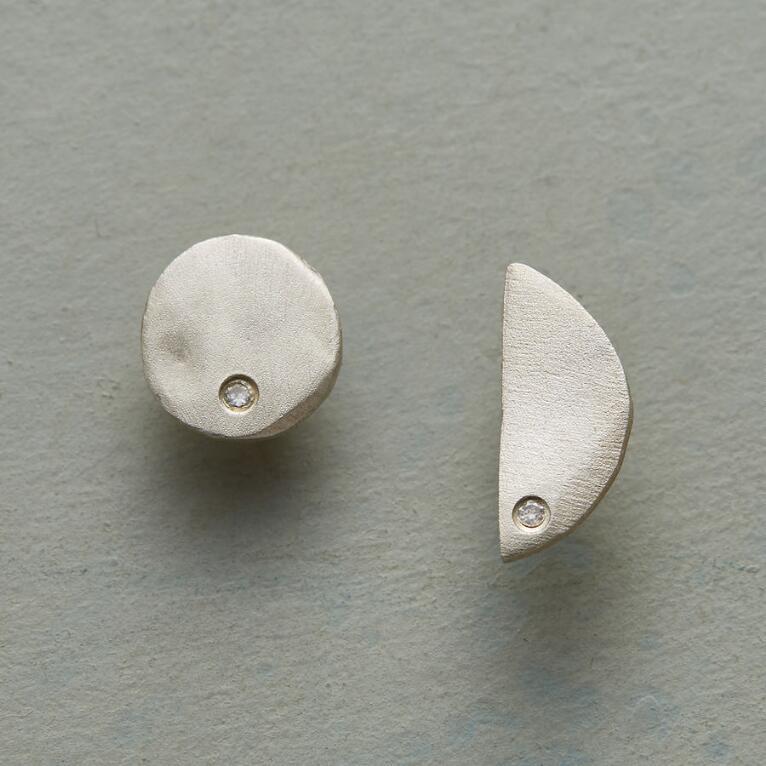 TWO MOONS DIAMOND EARRINGS