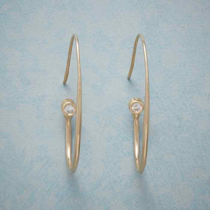 DIAMOND TOUCH HOOP EARRINGS