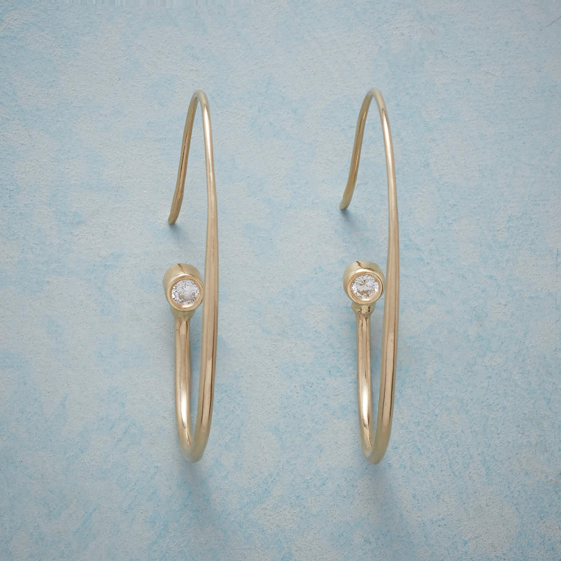 DIAMOND TOUCH HOOP EARRINGS: View 1
