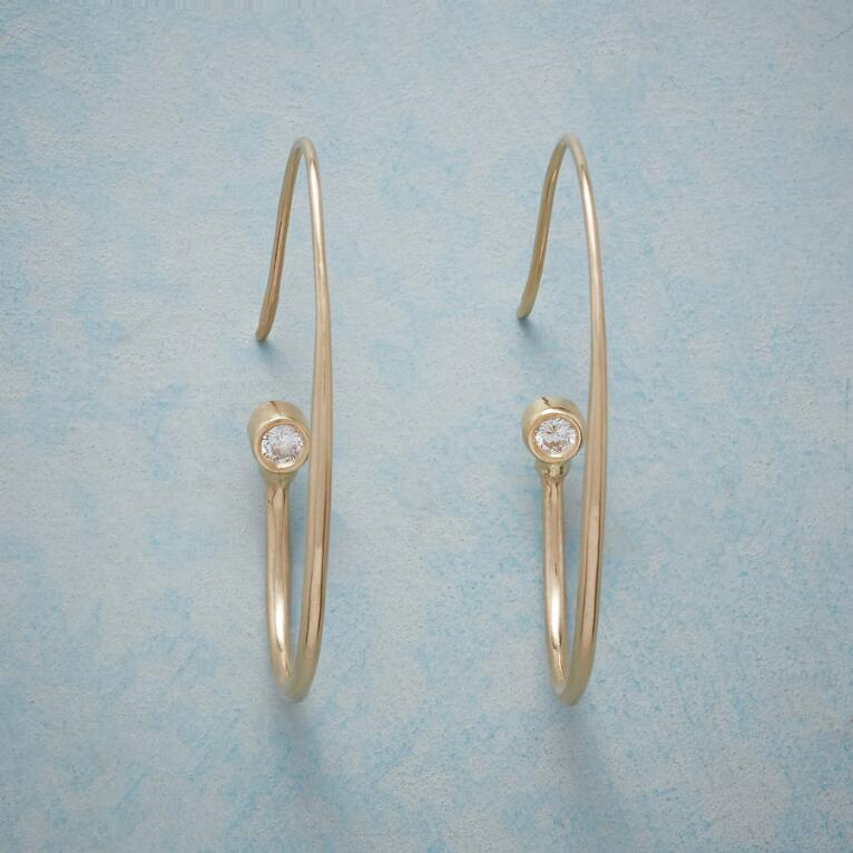 DIAMOND TOUCH HOOP EARRINGS