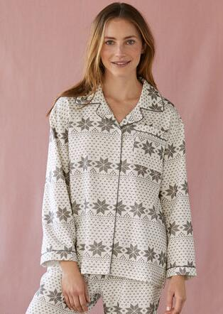 FROSTED FIRS FLANNEL TOP
