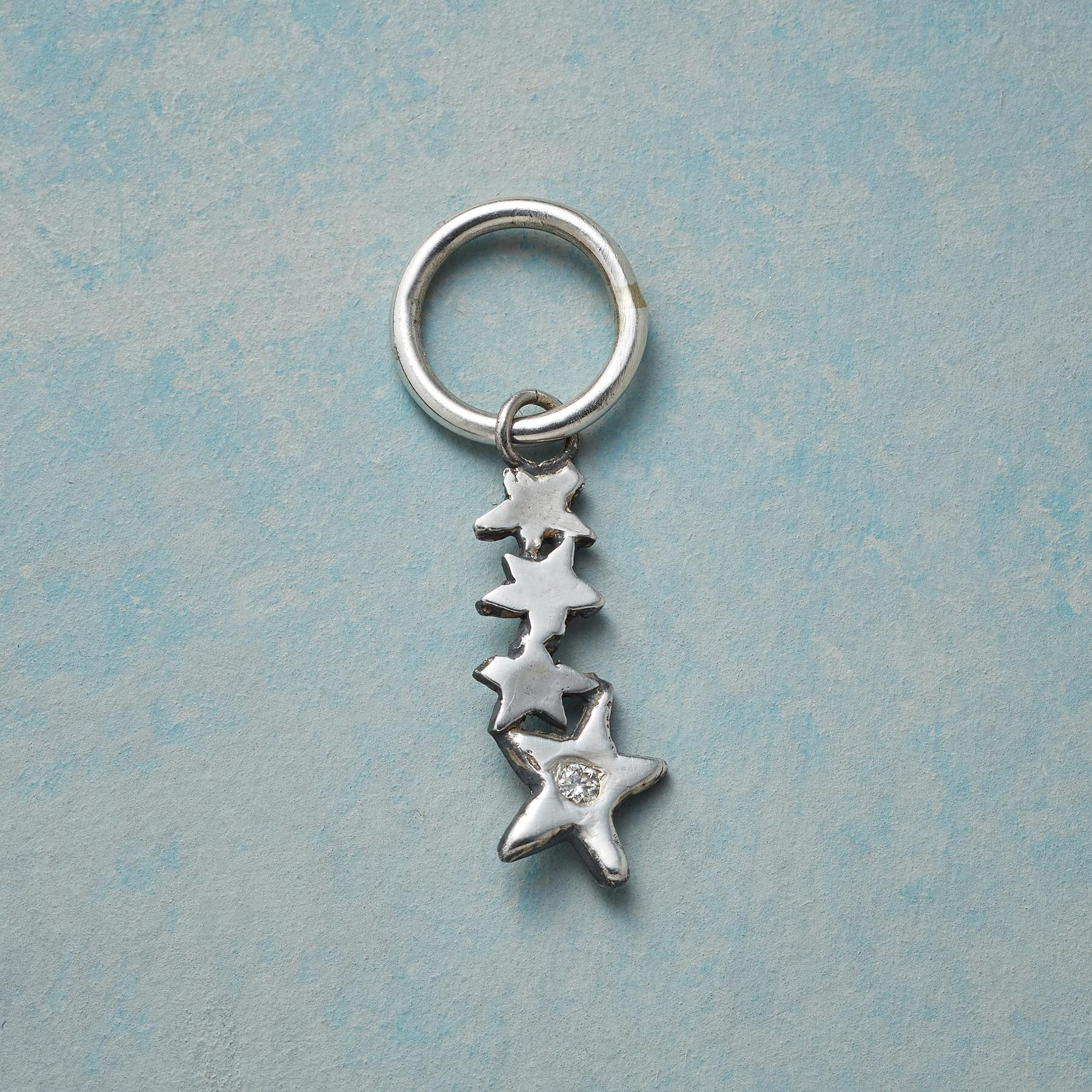 STERLING SILVER DIAMOND SHOOTING STAR CHARM: View 1
