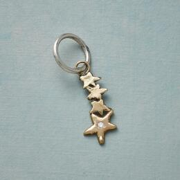 GOLD DIAMOND SHOOTING STAR CHARM