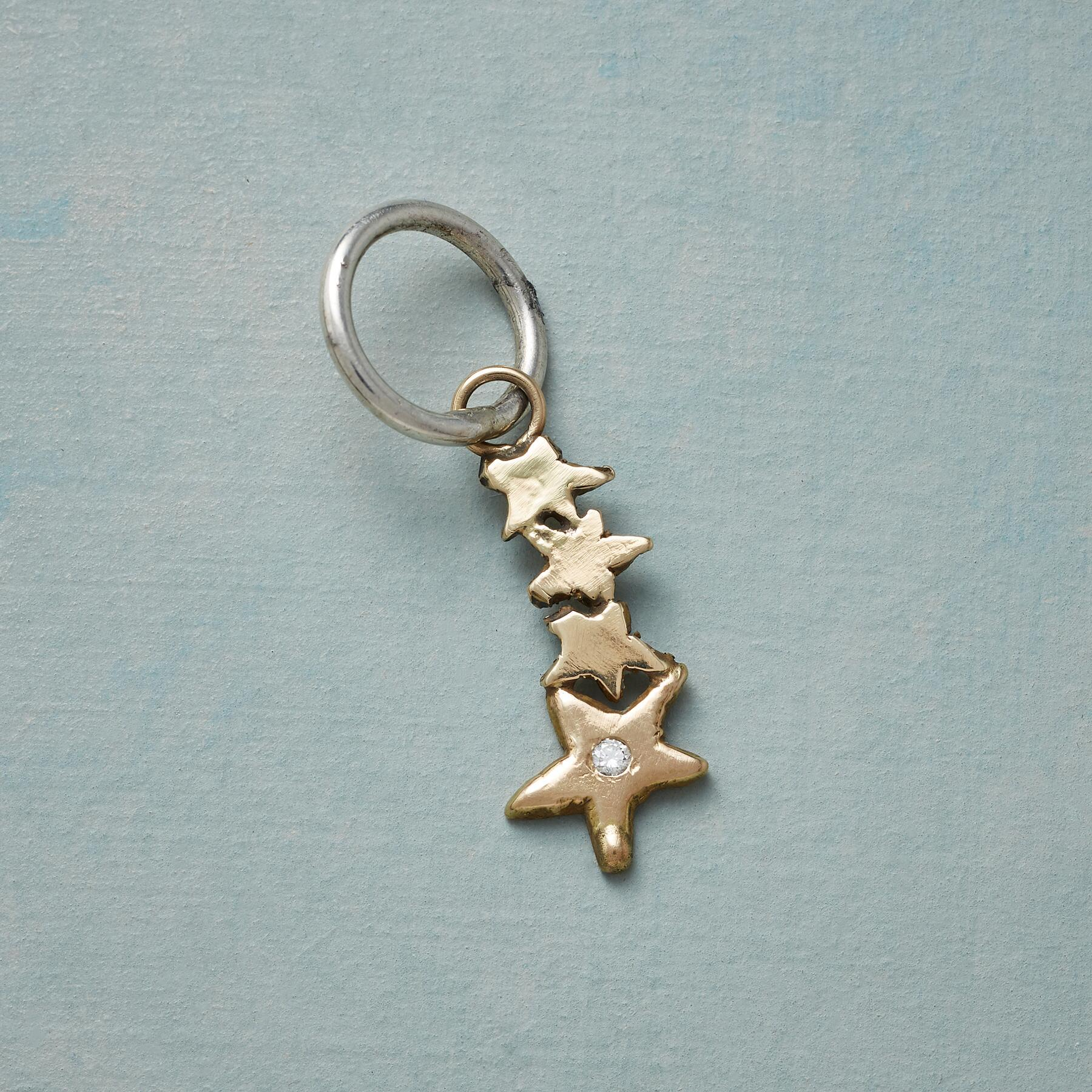 GOLD DIAMOND SHOOTING STAR CHARM: View 1