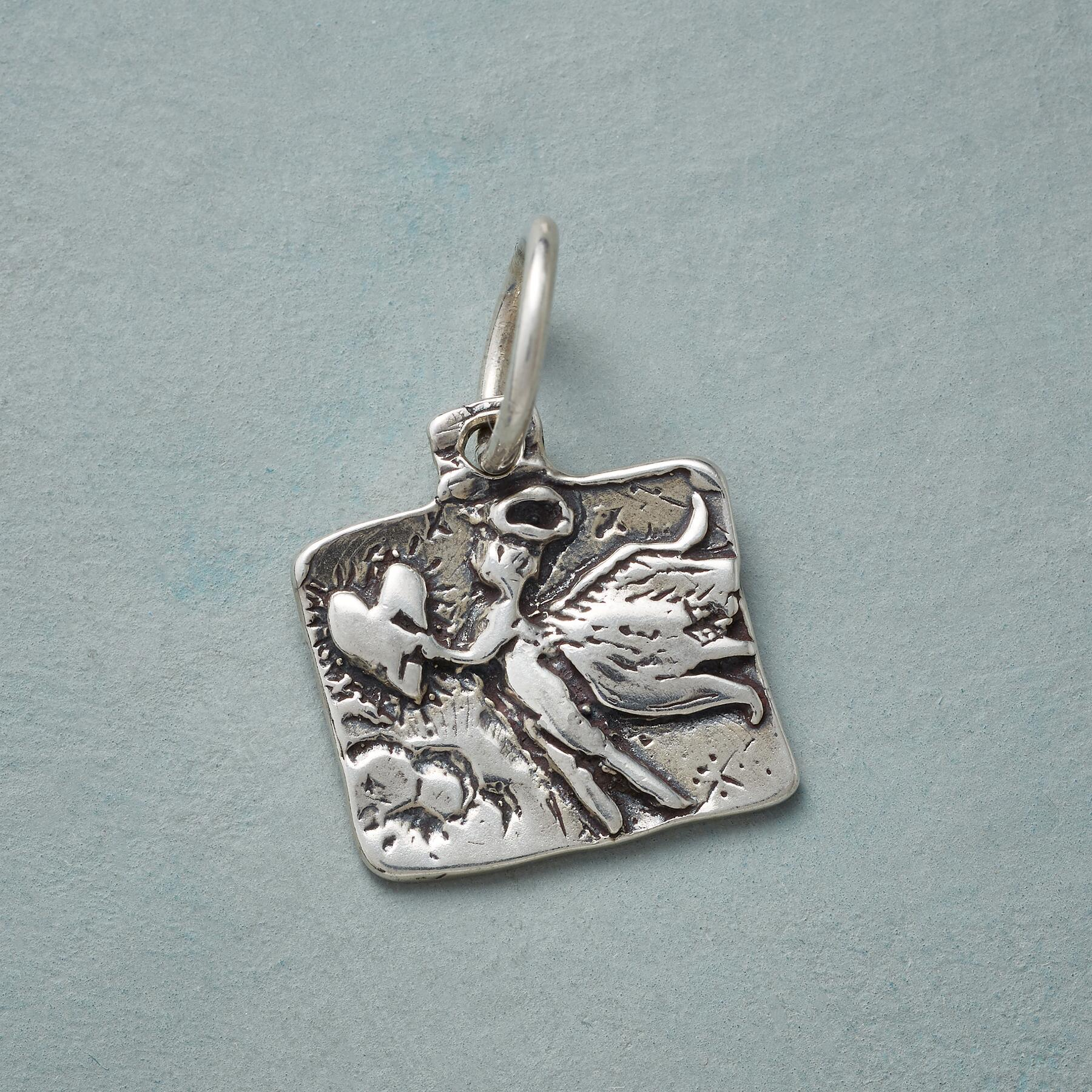 ANGEL OF MERCY SILVER CHARM: View 1