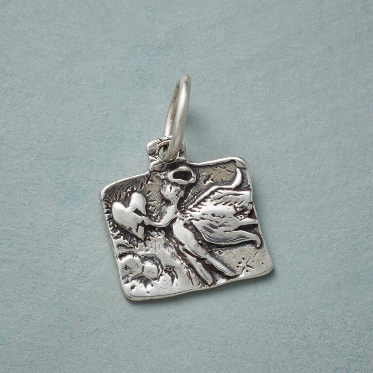 ANGEL OF MERCY SILVER CHARM