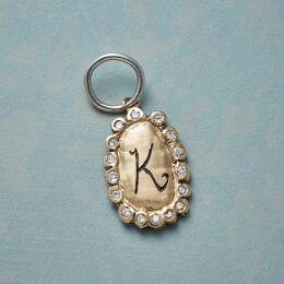 GOLD DIAMOND LETTER CHARM