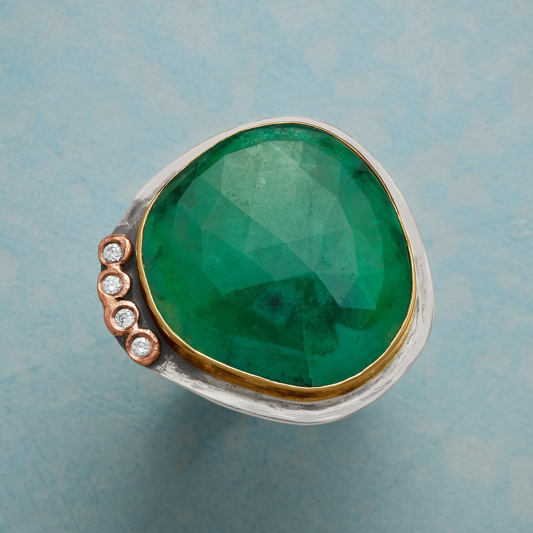 COLOSSAL EMERALD RING: View 1