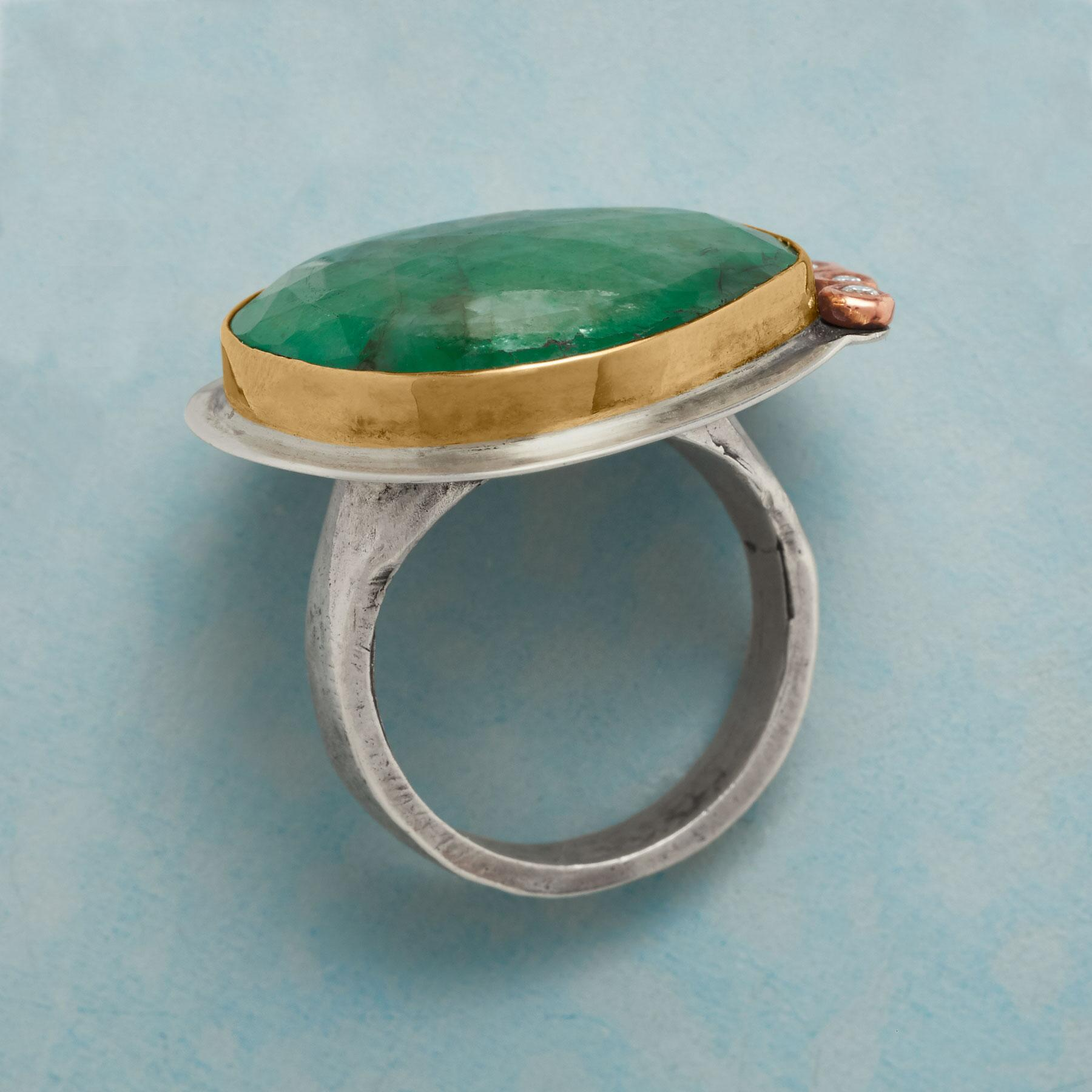 COLOSSAL EMERALD RING: View 2