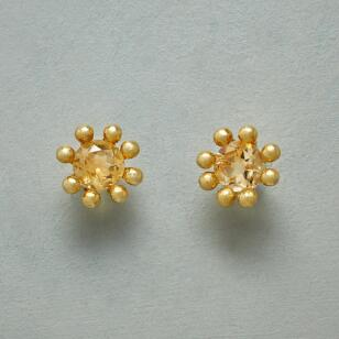 CITRINE CROWN EARRINGS