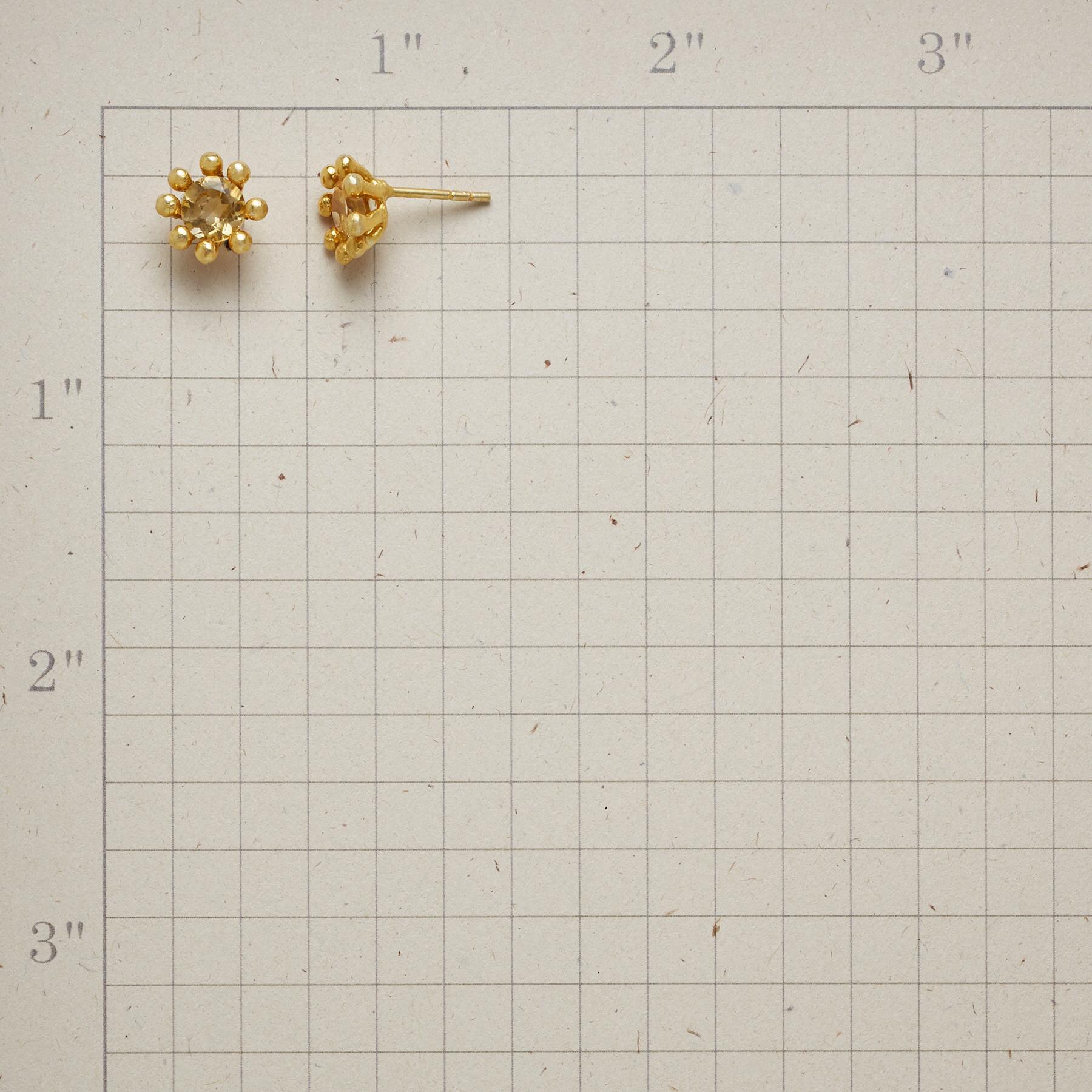 CITRINE CROWN EARRINGS: View 2