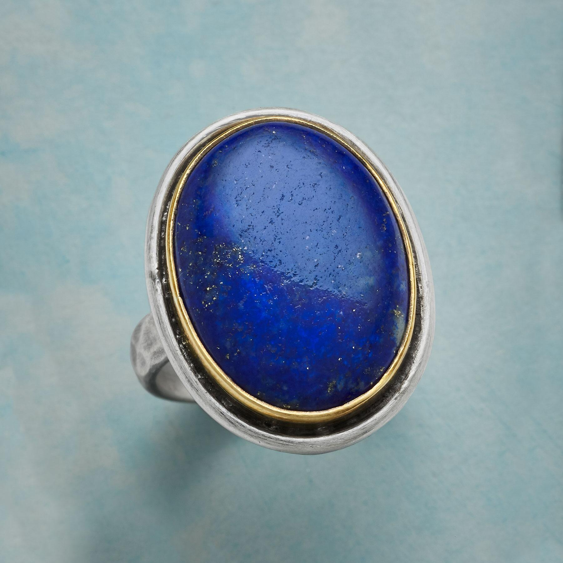 LARGER THAN LAPIS RING: View 1