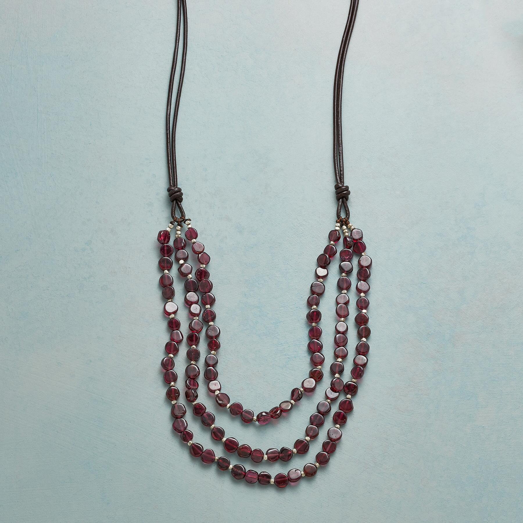 GARNET EMBERS NECKLACE: View 1