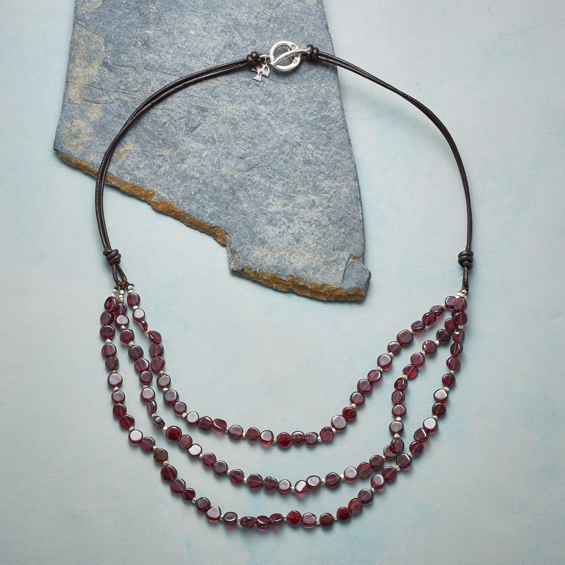 GARNET EMBERS NECKLACE: View 2