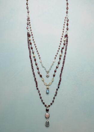 GARNET FALLS NECKLACE