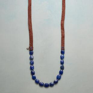 LAPIS ON LEATHER NECKLACE