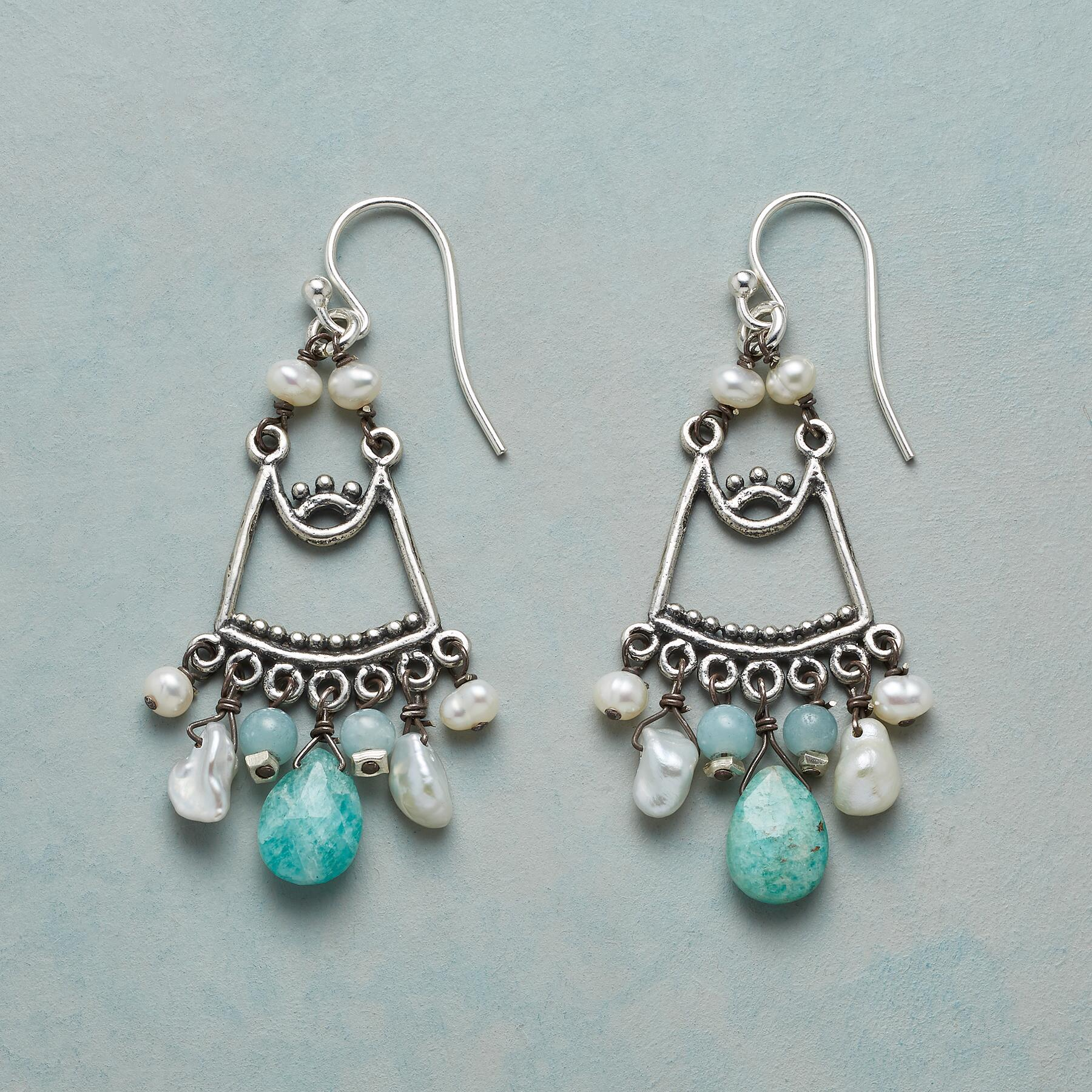 AMAZONITE BREEZE EARRINGS: View 1