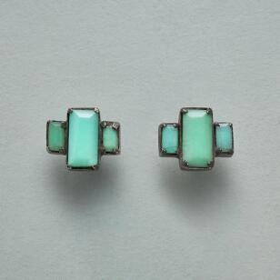IN PRAISE OF CHRYSOPRASE EARRINGS