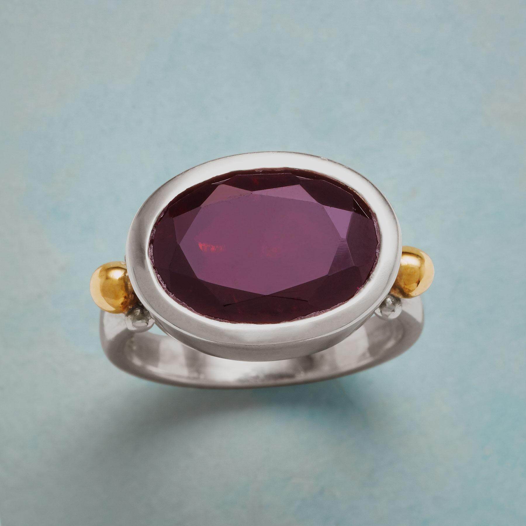 GARNET ATTRACTION RING: View 1