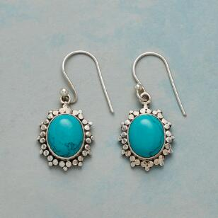 TURQUOISE DOTBURST EARRINGS