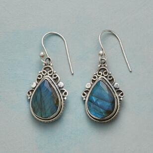 IN CURLS LABRADORITE EARRINGS