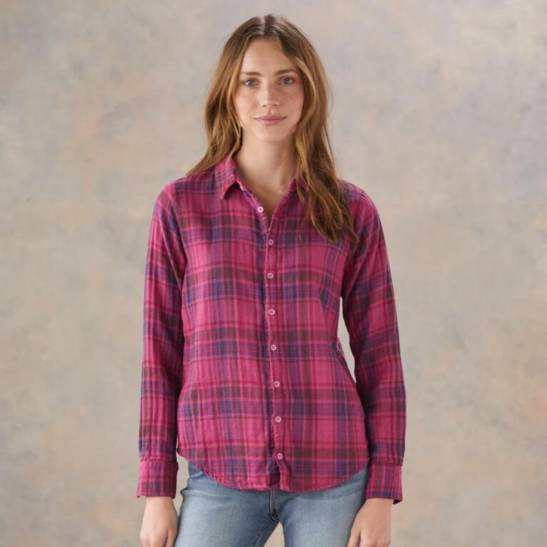 OLIVIA PLAID TOP