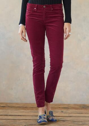 CORDUROY ANKLE LEGGINGS