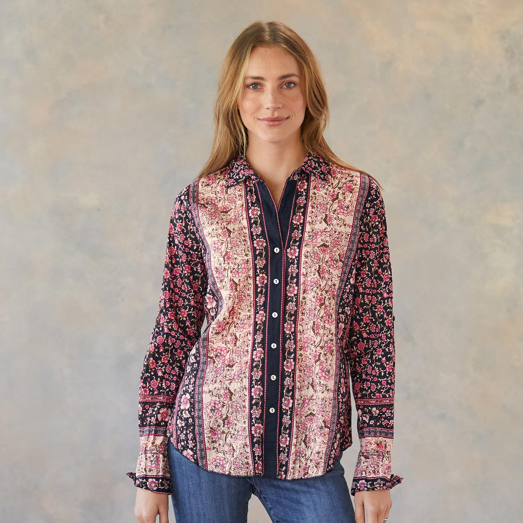 ROMANCE IN ROSES SHIRT: View 1