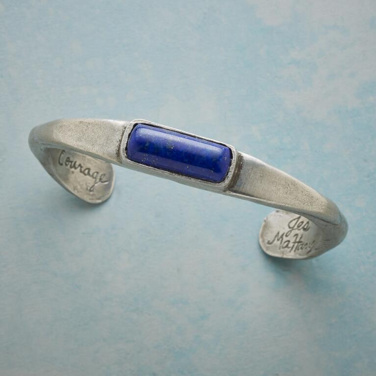 TRUE NORTH LAPIS CUFF BRACELET