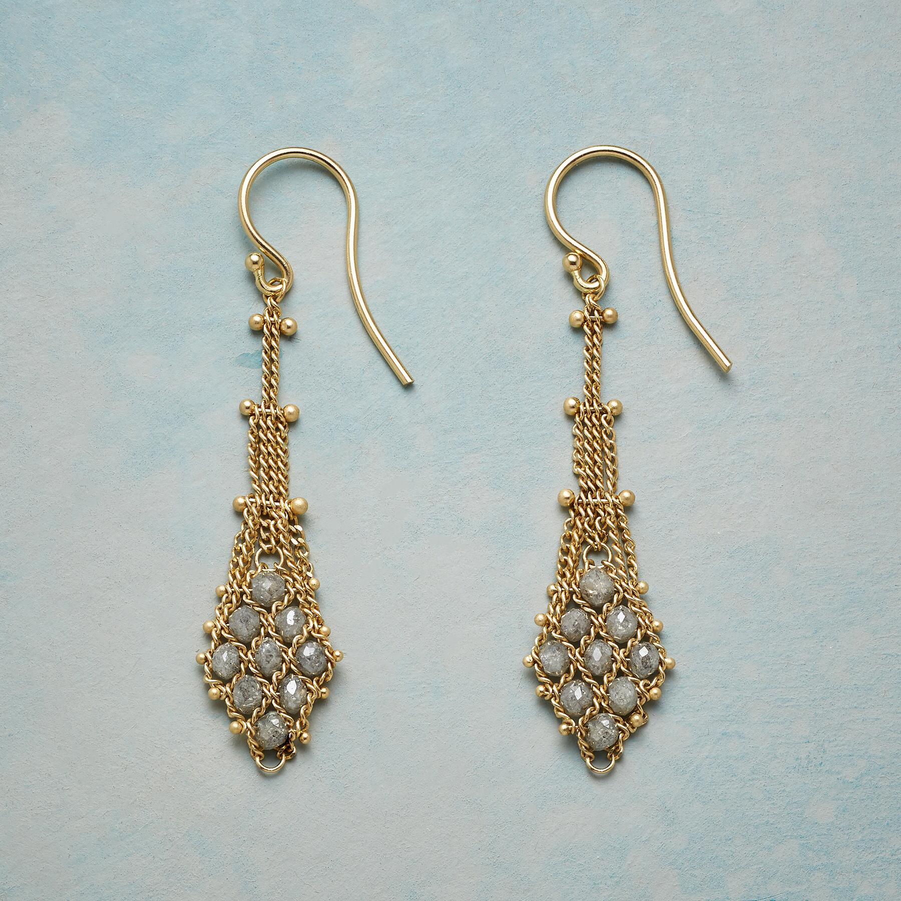 ARIA DIAMOND EARRINGS: View 1