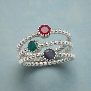 PRIMARILY PRETTY RINGS, SET OF 3