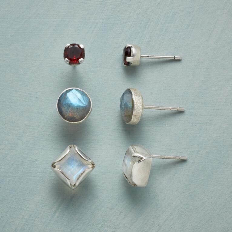 JUST THE GEMS EARRING TRIO