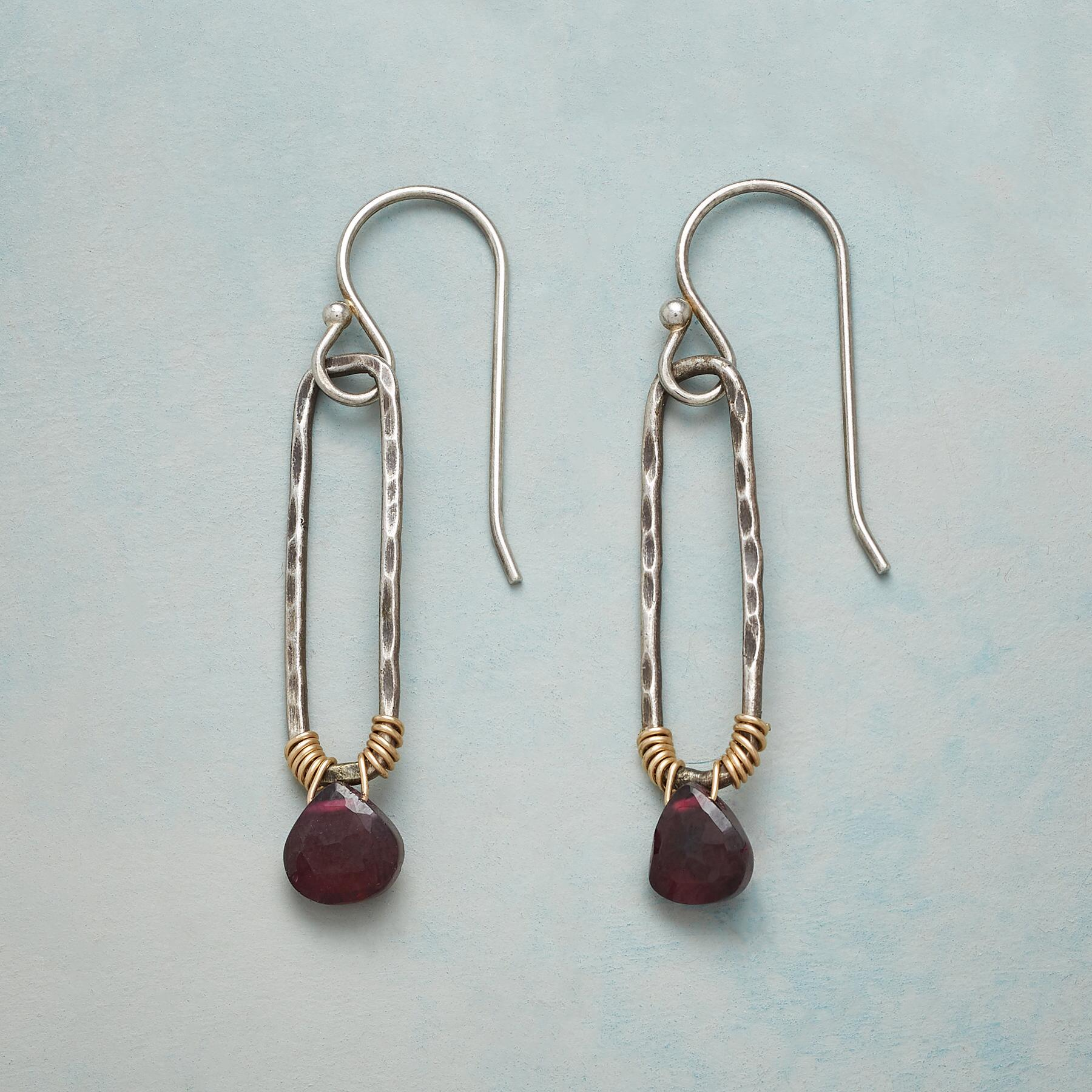 EMELINE GARNET EARRINGS: View 1