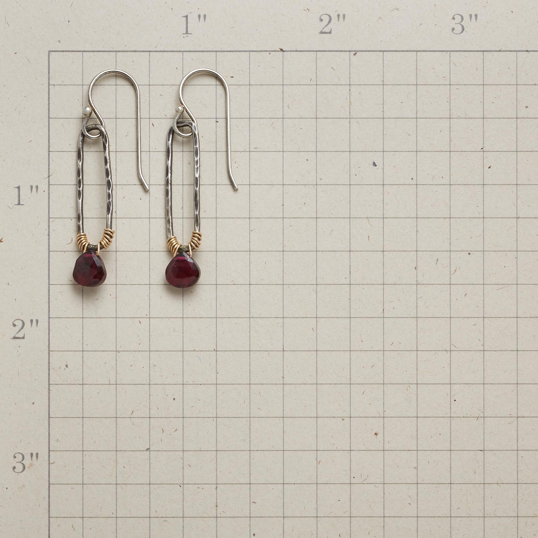 EMELINE GARNET EARRINGS: View 2