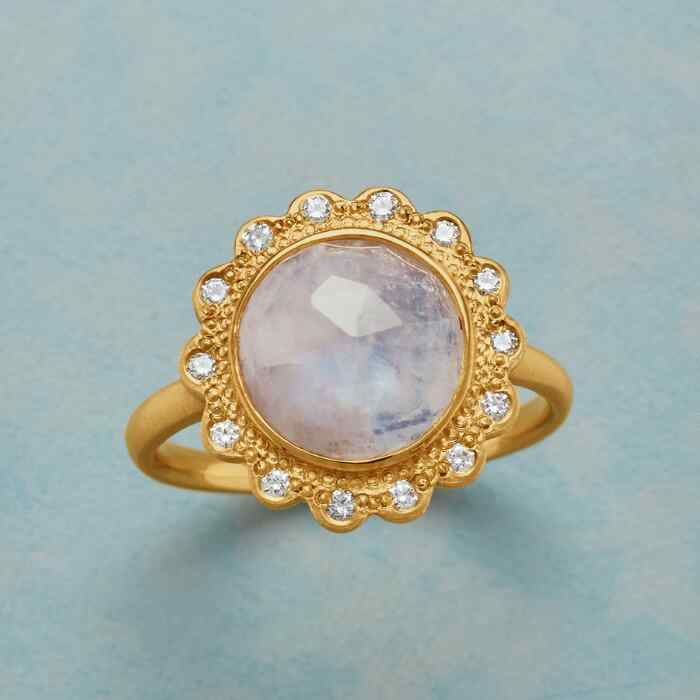 STARLIT MOONSTONE RING