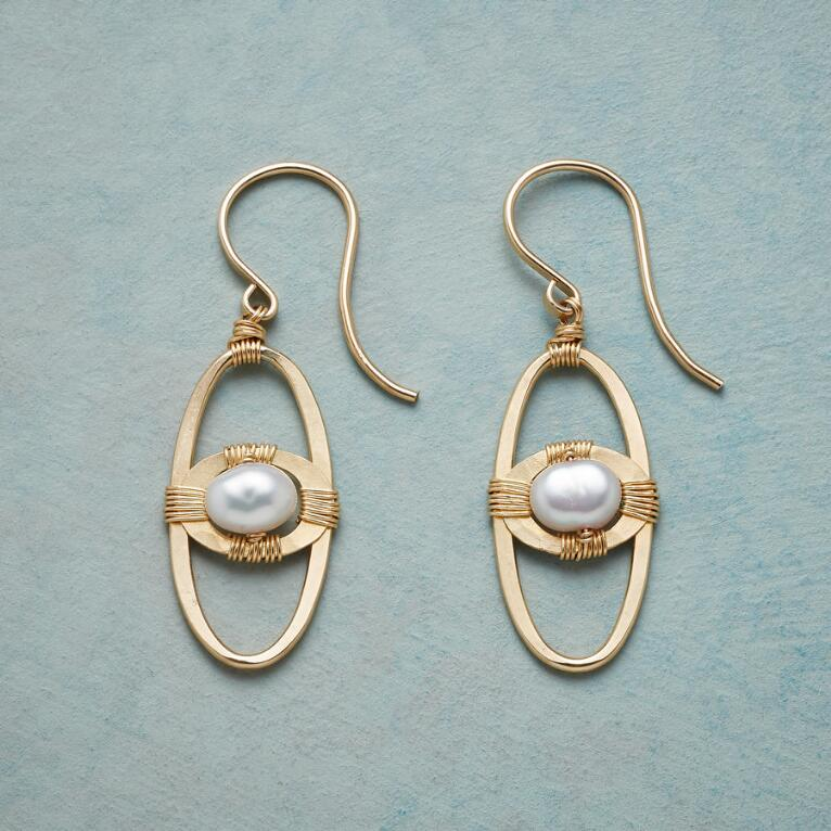 SPACE AGE PEARL EARRINGS