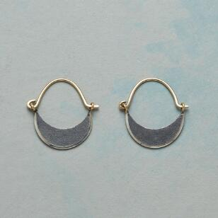 DARK MOON HOOP EARRINGS