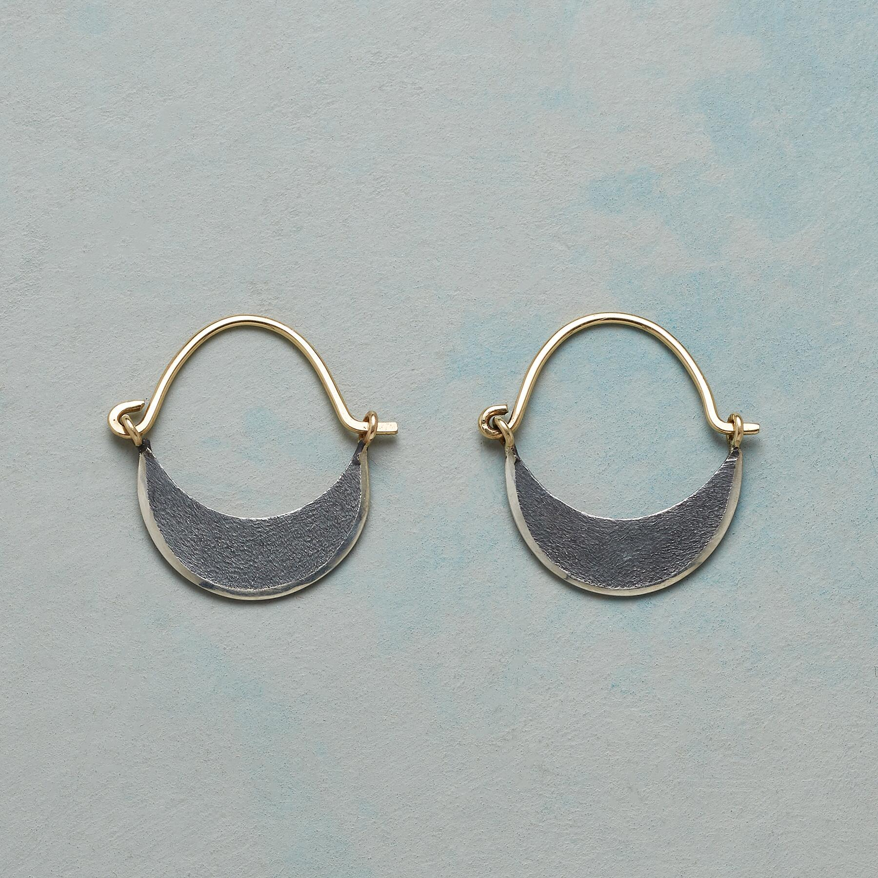 DARK MOON HOOP EARRINGS: View 1
