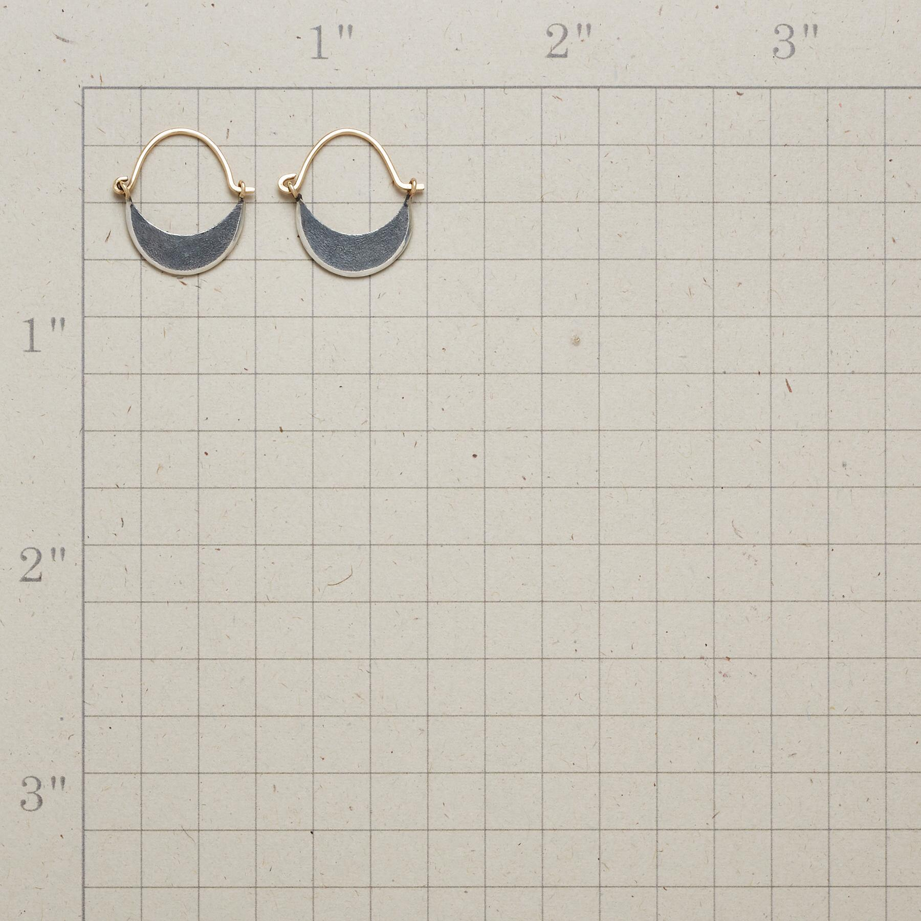 DARK MOON HOOP EARRINGS: View 2