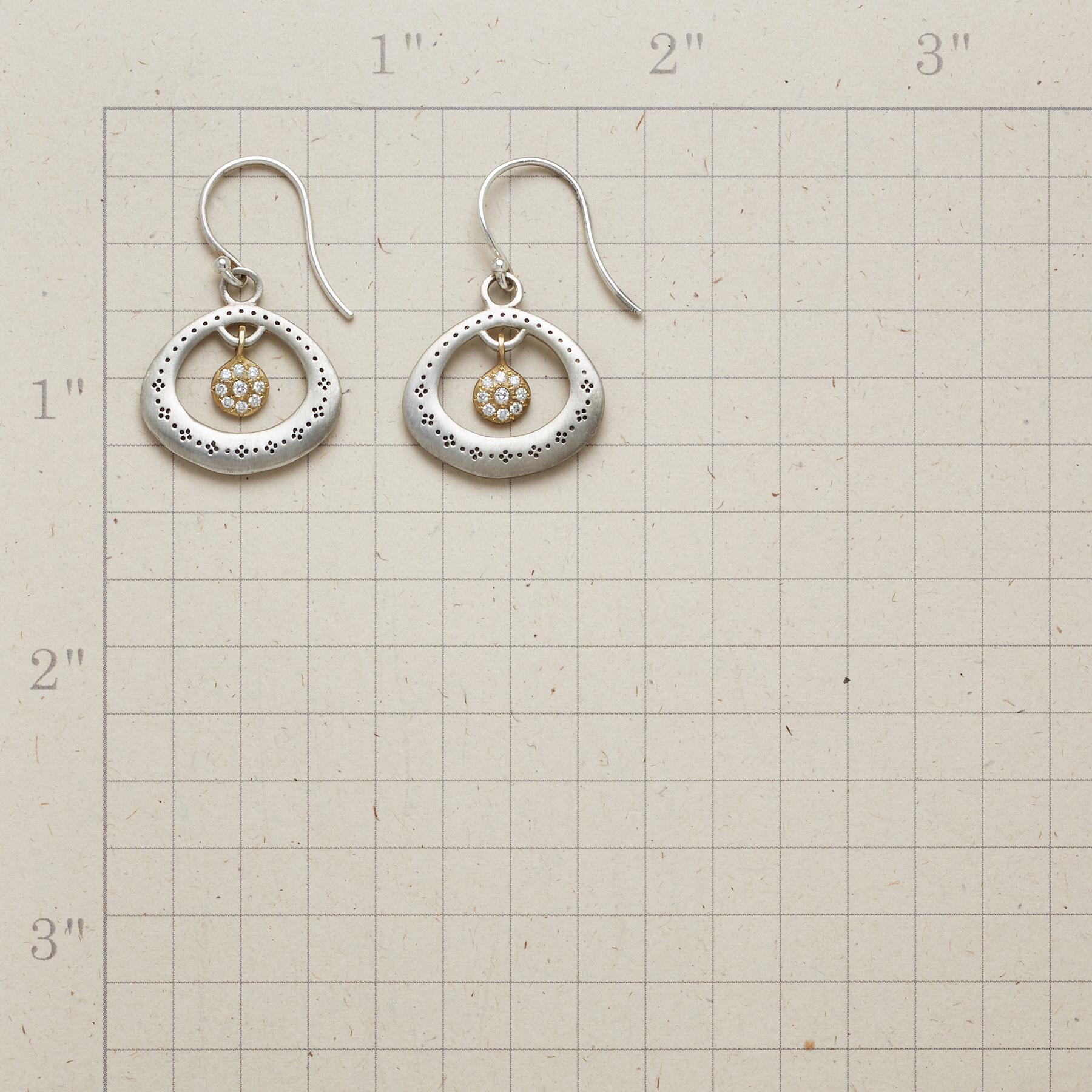 DIAMOND CENTRIC EARRINGS: View 2