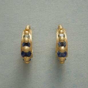 SAPPHIRE RAINBOW HOOP EARRINGS